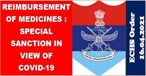In light of Covid-19, reimbursement of medicines is subject to a special sanction until July 31, 2021: ECHS