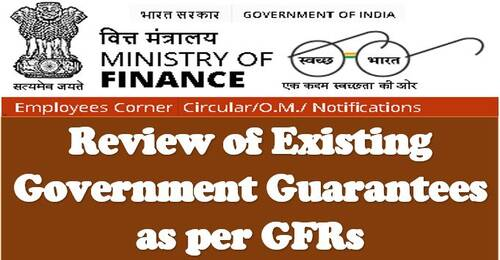 FinMin OM dated23.04.2021: Review of Existing Government Guarantees in Light of GFRs